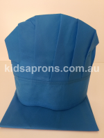 Kids Apron and Hat- Blue-non woven